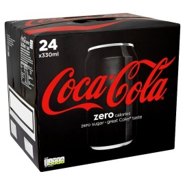 Coca Cola Coke Zero Soda 24X330ml
