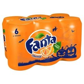 Fanta Orange Soda6 X 330 Ml Pack