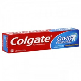 Colgate Cavity Protection Fluoride Toothpaste Regular Flavor