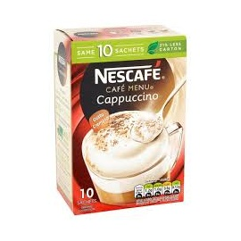 NESCAFE CAPPUCCINO COFFEE 10 SACHETS 170G