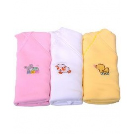 3 pieces of t shirt pink white yellow