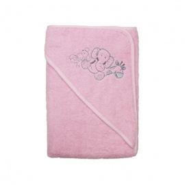 babys towel pink