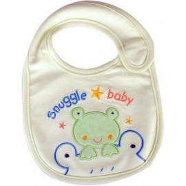 snuggle baby bib cream