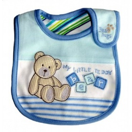 my little teddy bear bib blue