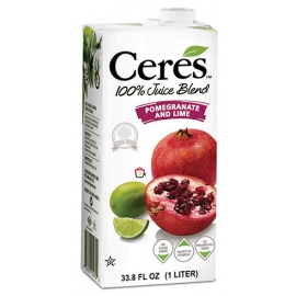 CERES POMEGRANATE & LIME 100% Pure Fruit Juice 1Ltr