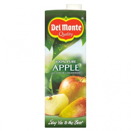 DELMONTE APPLE 100% Pure Fruit Juice 1Ltr