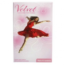 3 Piece Velvet Condoms For Women