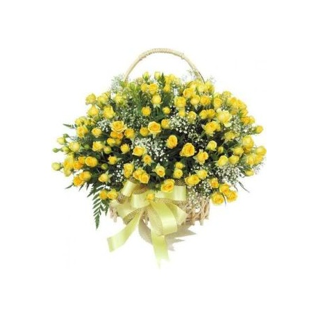 Zinga basket for  Yellow Roses