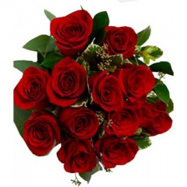 12 Long Stem Red Roses flower