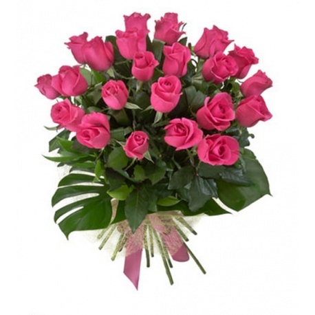 Long Stem Pink Roses Flower Bouquet