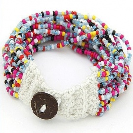 Beaded Multiple Bracelet - Multicolour