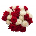 Red White Roses Bouquet flowers