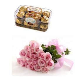 Ferrero Pink Roses Gift