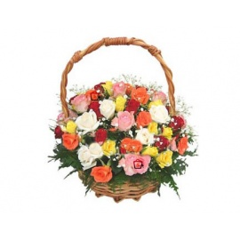Mirembe Multicolored Flower Mix Basket