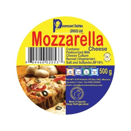 PARAMOUNT MOZZAREL CHEESE 500G