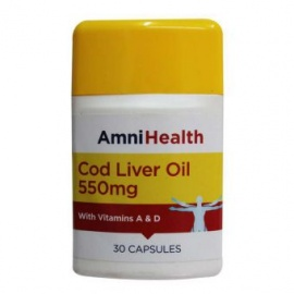 Amnihealth Cold Liver Oil 30 Capsules With Vitamin A D  550mg