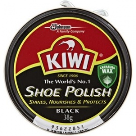 Kiwi Shoe Polish Black 38g