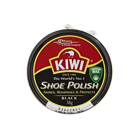 Kiwi Shoe Polish Black 38g