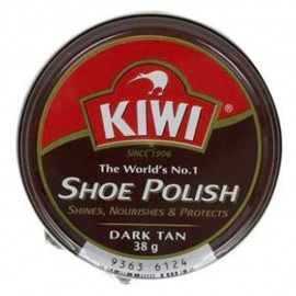 Kiwi Shoe Polish  Dark Tan 38g