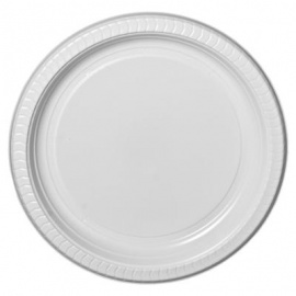 White Premium Disposable Plastic  Plates 6inch 25 pieces