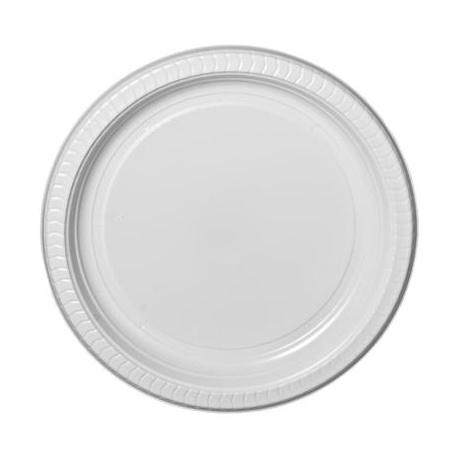 White Premium Disposable Plastic  Plates 6inch 25 pieces