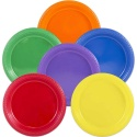 Round Plastic Disposable Plates 7inch 25pack pieces each colour