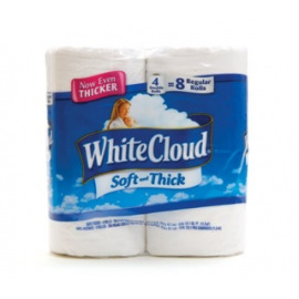 White Cloud  Comfort Soft 8 rolls