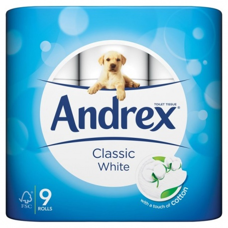 Andrex Classic White 9 rolls