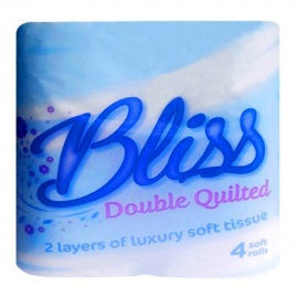 Bliss Double Quilted 4 Toilet rolls