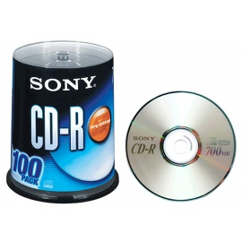 Sony Blank Disc CD-R (100 CDs Pack) 700MB