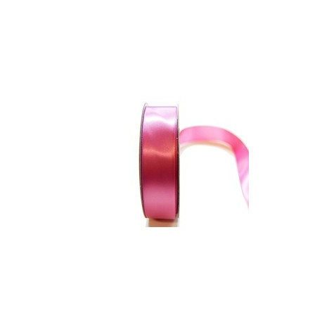 Satin Ribbon Woven Edge  25mm x 30m dusty pink