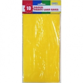 Party Paper Loot Bags 10  Yellow