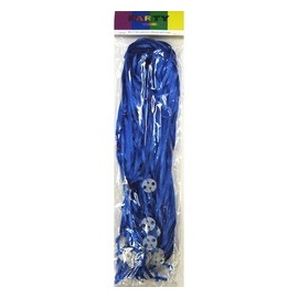 50pk Curling Ribbon & Seals Royal Blue
