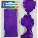 Crepe Paper Garland Decoration 8.5cm x 6 Metres  Violet