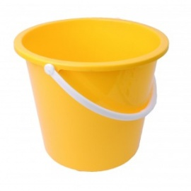 Yellow 10ltr Bucket