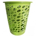 Laundry Basket with Oval Shape Cut Out Design Green