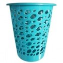 Laundry Basket with Oval Shape Cut Out Design  Blue