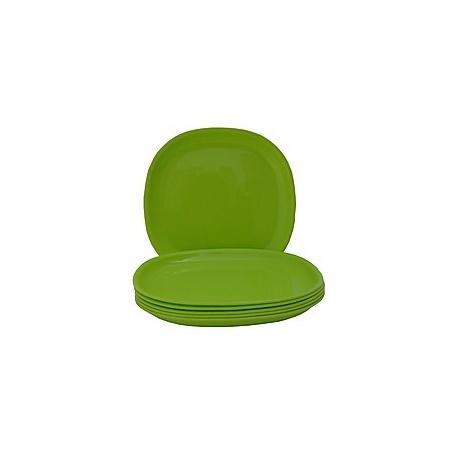 12 Pcs Melamine Plates  Green