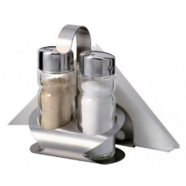 A Set of Salt Shakers & Serviette Hold