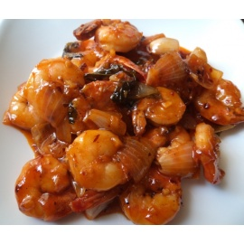 Prawn In Chilli Garlic Sauce (8 Pieces)