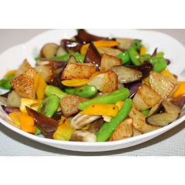 Three Treasure Vegetables In Chilli Garlic Sauce