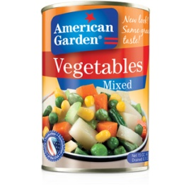 A/Garden Mixed Vegetables 15oz