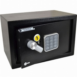 YALE SMALL ELECTRONIC DIGITAL SAFE KEYPAD STEEL DEPOSIT BOX SECURITY