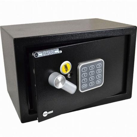 YALE SMALL ELECTRONIC DIGITAL SAFE KEYPAD STEEL DEPOSIT BOX SECURITY