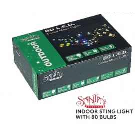indoor Stilight with 80 Bulbs santa