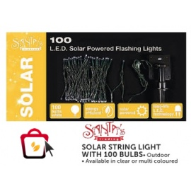 solar string light with 100 bulbs xmas