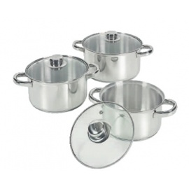 Bon Voyage 6 Piece Stainless Steel Pot Set
