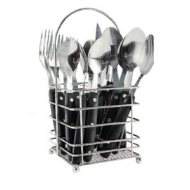 16 Piece  cutlery with Wire Basket
