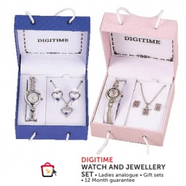 Digi time watch and Jewellery  set