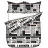Queen DC Newsprint Duvet Cover